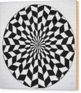 Opt Art 5 Wood Print