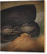 Optometrist - Glasses For Reading  Wood Print by Mike Savad