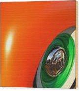 Orange And Green Wood Print