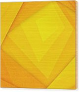 Orange And Yellow Abstract Paper Background Wood Print