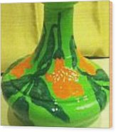 Orange Bells Wood Print