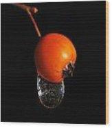 Orange Berry Wood Print