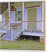 Orange Grove Store Wood Print