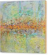 Orange Intenference Wood Print