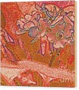 Orange Joy Wood Print