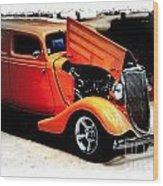 Orange Lighting II - No.9188 Wood Print