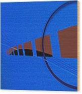 Orange Over Blue Wood Print