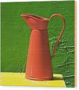 Orange Pitcher Wood Print by Garry Gay