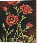 Orange Poppies II Wood Print