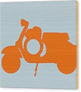 Orange Scooter Wood Print