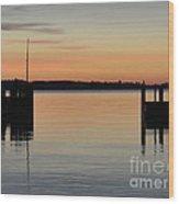 Orange September River Wood Print