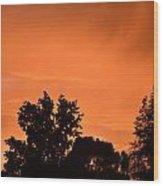 Orange Sky Wood Print by Naomi Berhane