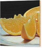 Orange Slices Wood Print