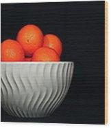 Orange Still Life Wood Print