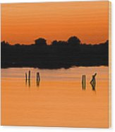Orange Sunset Florida Wood Print