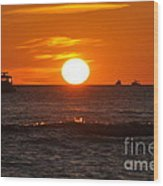 Orange Sunset I Wood Print