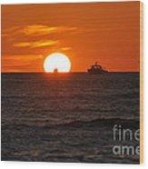 Orange Sunset II Wood Print