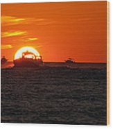 Orange Sunset IIi Wood Print