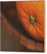 Orange Sunshine Wood Print