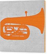 Orange Tuba Wood Print