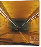 Orange Tunnel In Dc Wood Print