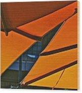 Orange Umbrella Abstract Wood Print