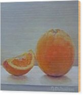 Orange un Quart Wood Print