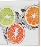 Orange Wood Print by Viki Vehnovsky