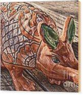 Orangeadillo Wood Print by Ken Williams