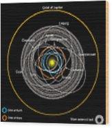 Orbits Of Earth-crossing Asteroids Wood Print