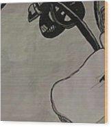 Orchid Scroll 2 Wood Print