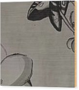 Orchid Scroll 5 Wood Print