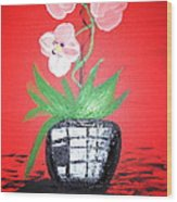 Orchids Wood Print by Pretchill Smith