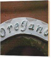 Oregano Wood Print