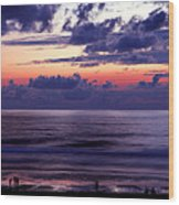 Oregon - Lincoln City Sunset Wood Print by Terry Elniski