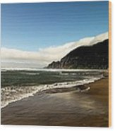Oregon Beach Wood Print