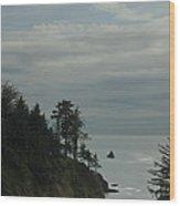 Oregon Coast Trees 1 Wood Print