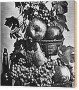 Oregon: Wine & Grapes Wood Print