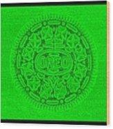 Oreo In Green Wood Print