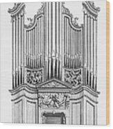 Organ, 1760 Wood Print