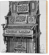 Organ, 19th Century Wood Print