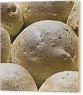 Organic Bread Rolls Wood Print by Frank Tschakert