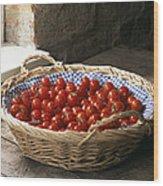 Organic Cherry Tomatoes Wood Print