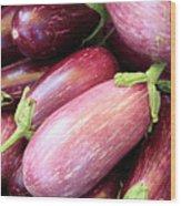 Organic Eggplant Wood Print