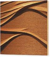 Organic Mahogany Shadows Wood Print