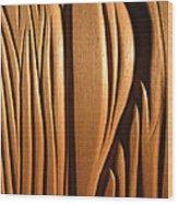 Organic Mahogany Shapes Wood Print