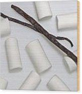 Organic Marshmallows With Vanilla Wood Print