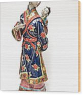 Oriental Lady And Child Wood Print
