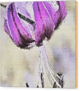 Oriental Lily Watercolor Wood Print