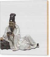 Oriental Warrior At Rest Wood Print